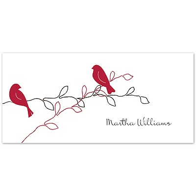Love Birds - Apple - Place Card