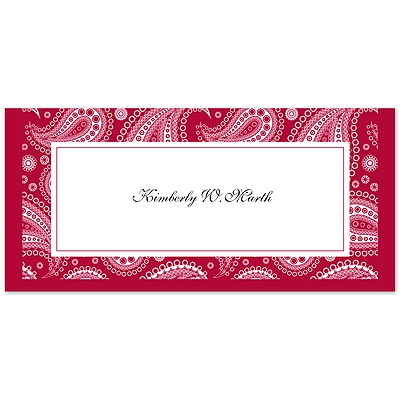 Perfect Paisley - Apple - Place Card
