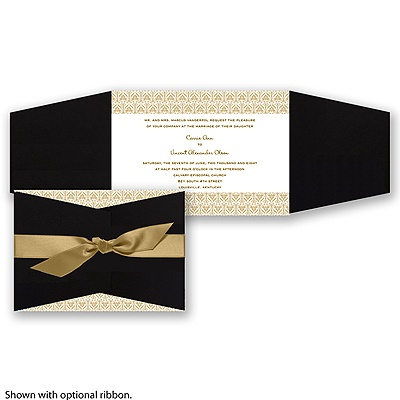 Layers of Color - Golden - Invitation
