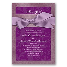 Treasured Jewels Pattern - Amethyst & Sangria Invitation