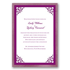 Imperial Contour Border - Amethyst Invitation
