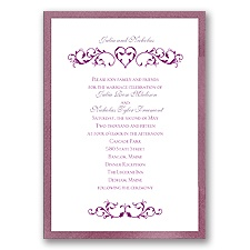 Imperial Filigree Heart - Amethyst Invitation
