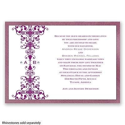 Imperial Ornamental Band - Amethyst Invitation