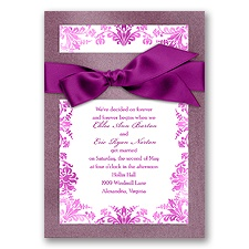Treasured Jewels Washed Filigree - Amethyst Invitation