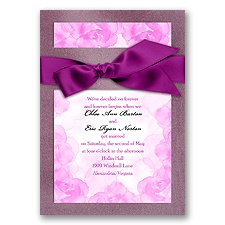 Treasured Jewels Vintage Roses - Amethyst Invitation