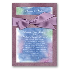 Treasured Jewels Cool Rainbow - Amethyst Invitation