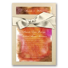 Treasured Jewels Warm Rainbow - Champagne Invitation