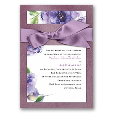 Treasured Jewels Splendor - Purple & Amethyst Invitation