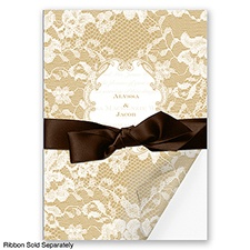 Lace Wrap - Golden - Invitation