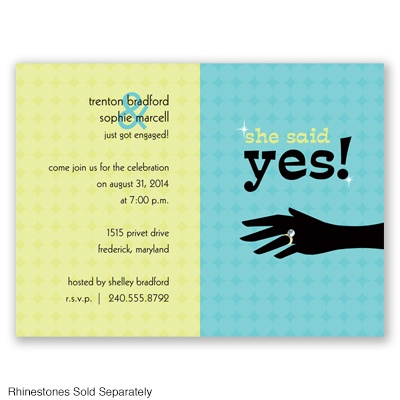 Say Yes - Pool - Engagement Party Invitation