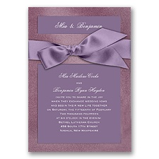 Treasured Jewels Solid - Amethyst & Bright White Invitation