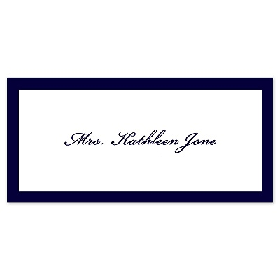 Colored Border - Place Card