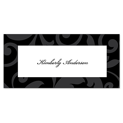 Treasured Jewels Pattern - Black - Place Card