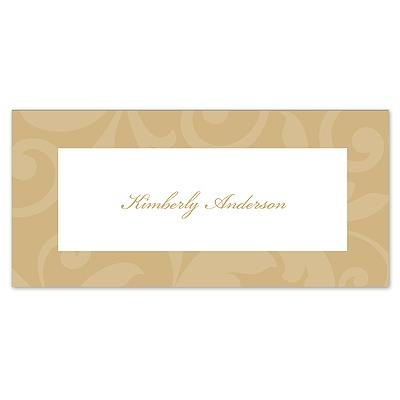 Treasured Jewels Pattern - Golden - Place Card
