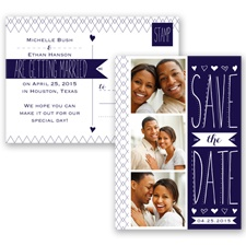 Sweetly Sketched - Lapis - Save the Date Postcard