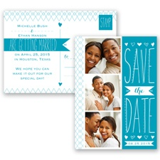 Sweetly Sketched - Malibu - Save the Date Postcard