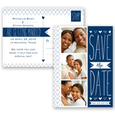 Sweetly Sketched - Marine - Save the Date Postcard