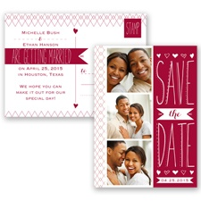 Sweetly Sketched - Apple - Save the Date Postcard