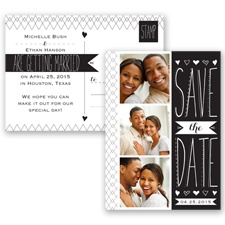 Sweetly Sketched - Black - Save the Date Postcard