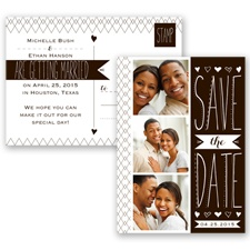 Sweetly Sketched - Chocolate - Save the Date Postcard
