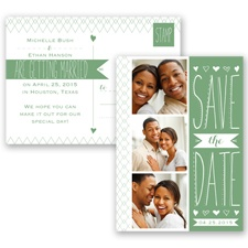 Sweetly Sketched - Clover - Save the Date Postcard