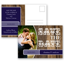 Rodeo Romance - Lapis - Save the Date Postcard