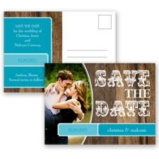 Rodeo Romance - Malibu - Save the Date Postcard