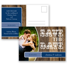 Rodeo Romance - Marine - Save the Date Postcard