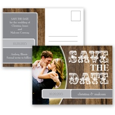 Rodeo Romance - Mercury - Save the Date Postcard