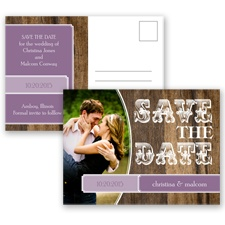 Rodeo Romance - Wisteria - Save the Date Postcard
