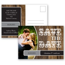Rodeo Romance - Black - Save the Date Postcard