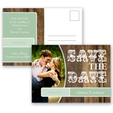 Rodeo Romance - Meadow - Save the Date Postcard