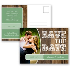 Rodeo Romance - Clover - Save the Date Postcard