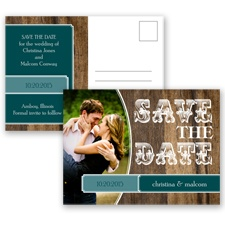 Rodeo Romance - Gem - Save the Date Postcard