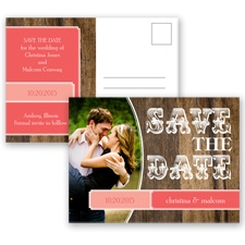 Rodeo Romance - Guava - Save the Date Postcard