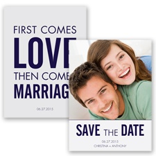 First Comes Love - Lapis - Save the Date