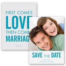 First Comes Love - Malibu - Save the Date