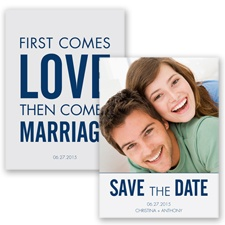 First Comes Love - Marine - Save the Date