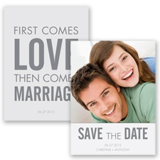 First Comes Love - Mercury - Save the Date