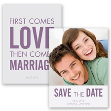 First Comes Love - Wisteria - Save the Date