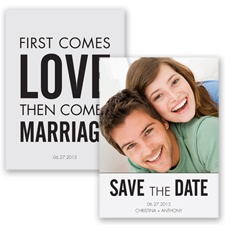 First Comes Love - Black - Save the Date
