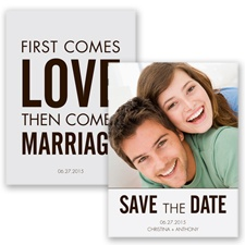 First Comes Love - Chocolate - Save the Date