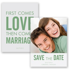 First Comes Love - Clover - Save the Date