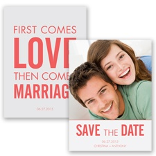 First Comes Love - Guava - Save the Date
