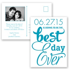 Best Day Ever - Malibu - Save the Date Postcard