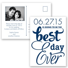 Best Day Ever - Marine - Save the Date Postcard