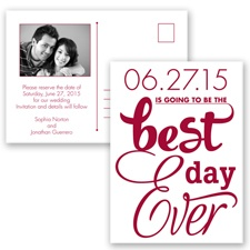Best Day Ever - Apple - Save the Date Postcard