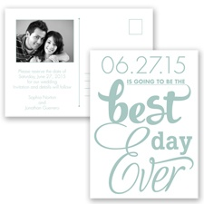Best Day Ever - Meadow - Save the Date Postcard