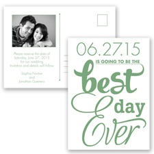 Best Day Ever - Clover - Save the Date Postcard