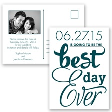 Best Day Ever - Gem - Save the Date Postcard